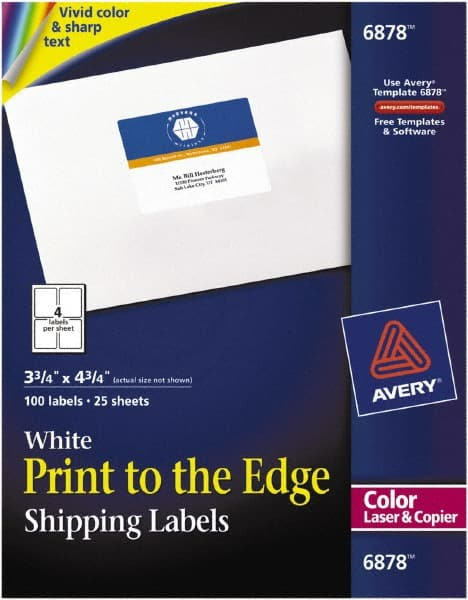 AVERY White Shipping Labels
