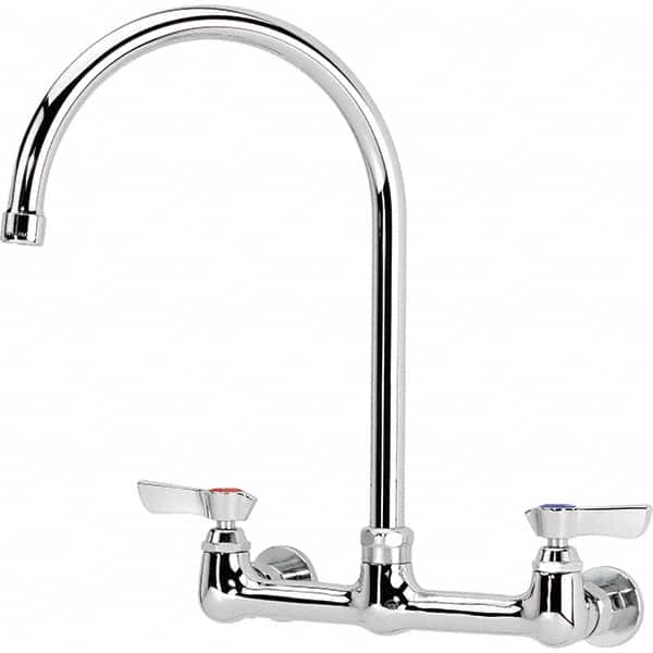 Krowne Wall Mount, Service Sink Faucet Without Spray   Two Handle, Blade  Handle,
