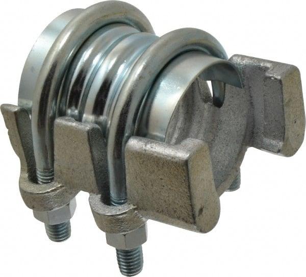 2-11//32-2-11//16 Plated Steel Campbell Fittings 039-IC-8 Interlocking U-Bolt Clamp 3 ID