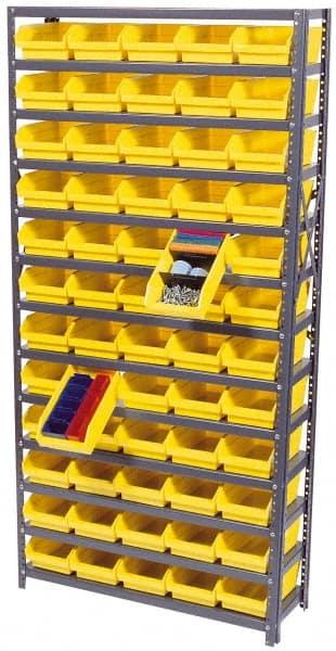 quantum storage 12x36x75 60 bins blue shelf bin unit bl
