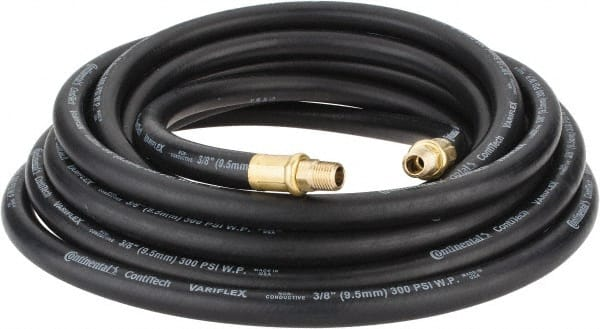Continental ContiTech 3/8inches X25u0027 300psi Black Oil Resistant Air Hose  20025442