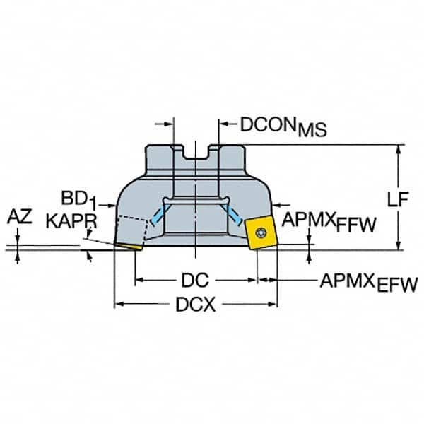 Sandvik Coromant 570-40R123H18B052A Steel CoroCut 41641 Head for Face Grooving Holder 0.71 Maximum Depth of Cut