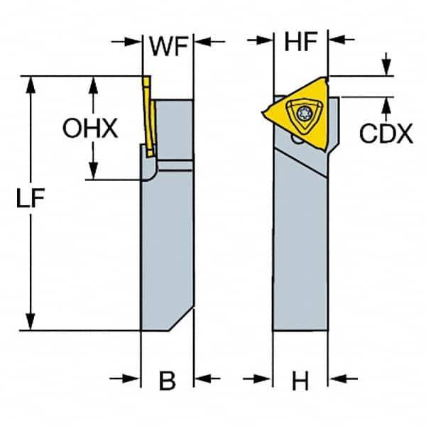 "Sandvik RF123G050-12B-130B Indexable Tool Holder CoroCut 1-2 Face Grooving 3//4/"""