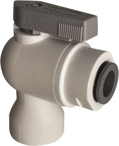 Parker LFPP4VFC6 Ball Valve 1//4 1//4 Polypropylene Tube to Female Pipe Push-to-Connect Connector