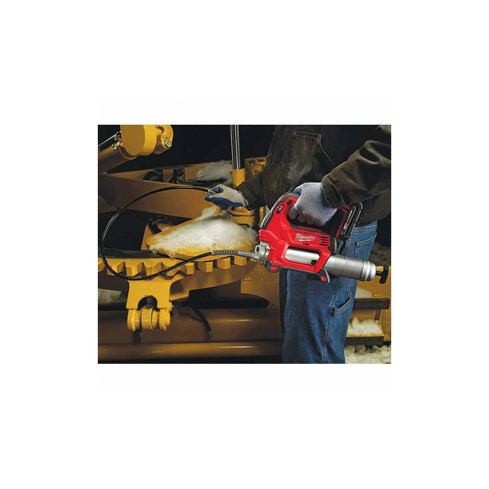 Milwaukee Tool 10 000 Max Psi Flexible Battery Operated Grease Gun 50905843 Msc Industrial Supply