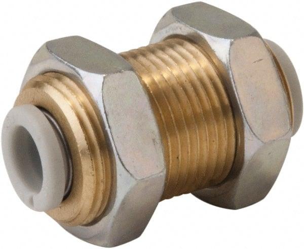 Bulkhead Union USA Sealing Push to Connect Tube Fitting Polybutylene Plastic 10mm Tube OD