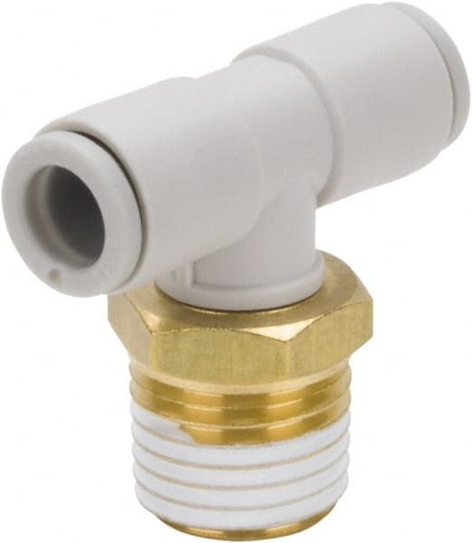 USA Sealing Push to Connect Tube Fitting Male Branch Tee Polybutylene Plastic 6mm Tube OD x 1//8 NPT Male