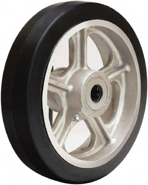 2 Caster Wheels Set 4 5 6 8 Polyurethane on Cast Iron Wheel Set with Bearing /& Kit 8 Bearing