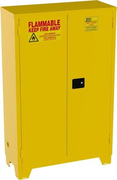 Jamco - 2 Door, 2 Shelf, Yellow Steel Double Wall Safety ...