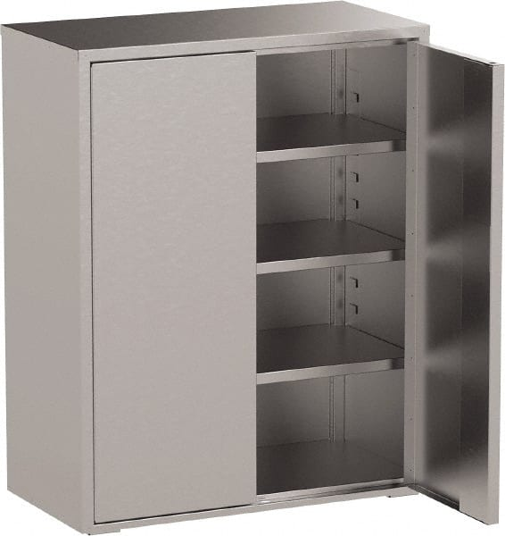 Jamco 3 Shelf Locking Storage Cabinet Stainless Steel 36 Wide X 24 Deep 61 High