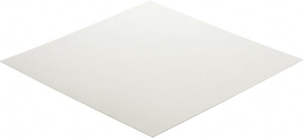 Polypropylene Plastic Sheet White Made in USA 48 x 24 x 1//4 Inch Shore D-72