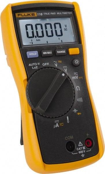 Fluke - 116, CAT III, 600 VAC/VDC, Digital True RMS Auto