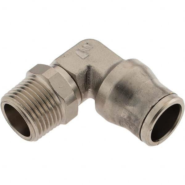 1//4-18 NPT Thread 1//2 Tube O.D 1//4-18 NPT Thread Midland Metal 1//2 Tube O.D Midland 680804C Brass Composite Body D.O.T Push-in Straight Male Connector