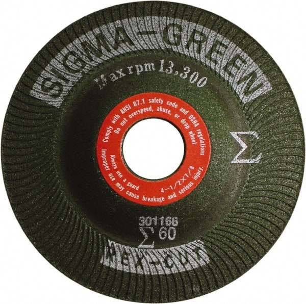 7in Dia Rex-Cut Abrasives 739103 Sigma Green Max Grinding Wheel 36 Grit x 1//4 Thick x 7//8 Arbor Pack of 20