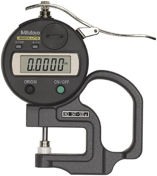 Electronic Federal Gage Products : Mitutoyo thickness measuring tool mscdirect