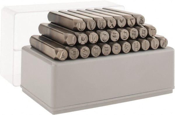 CH Hanson Steel Stamp Sets Type Heavy Duty Character Size 1