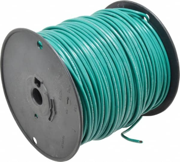12 AWG, 65 Strand, Green Machine Tool Wire 54093547 - MSC