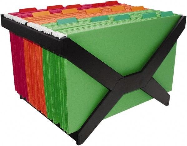 ADVANTUS - Black Hanging File Folder Racks-Plastic