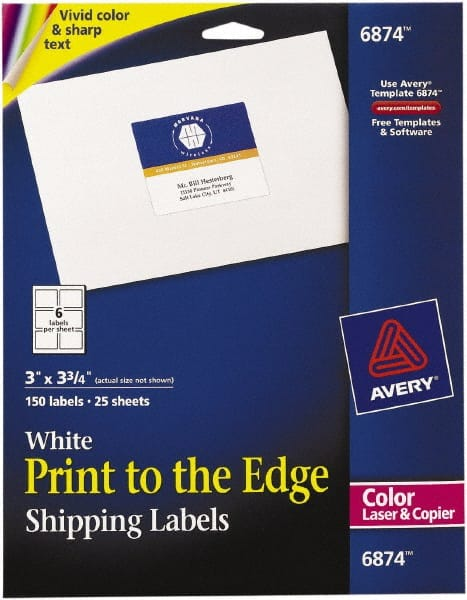 White Shipping Labels 54655543