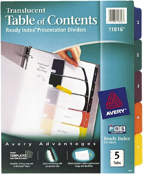 Tabs Indexes Dividers Indexes Divider 54694344 MSC
