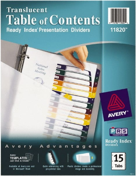 AVERY Tabs Indexes Dividers Divider Type Preprinted Size