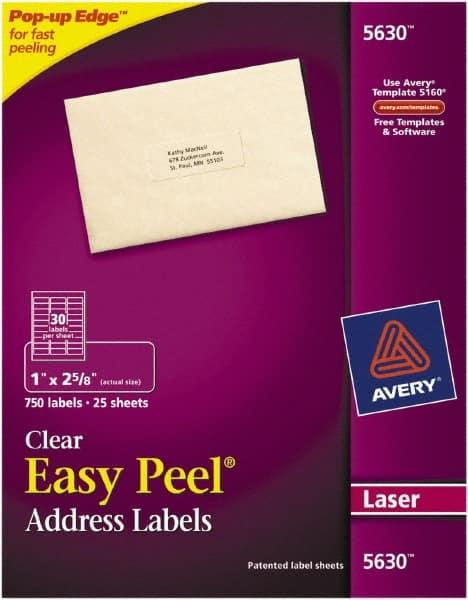 Clear Full Sheet Label 81629537 Msc