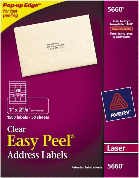Avery Clear Label Mscdirect