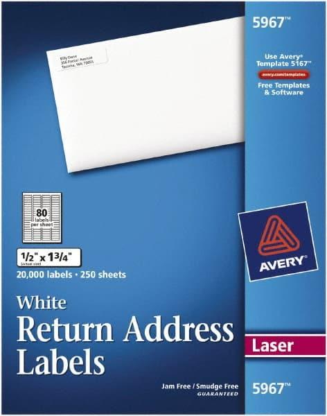 1 2 return address label paper white 54710637 msc