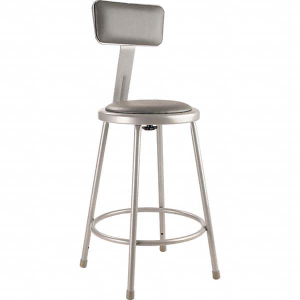 24 H Padded Stool With Backrest By National Public Seating, 24 Inch Height Chairs