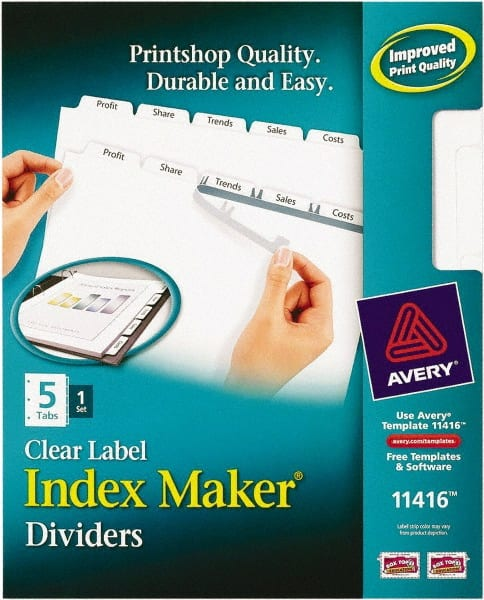 Avery Clear Dividers Mscdirect