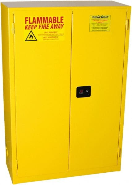Ordinaire PRO SAFE 2 Door, 2 Shelf, Yellow Steel Standard Safety Cabinet For Flammable
