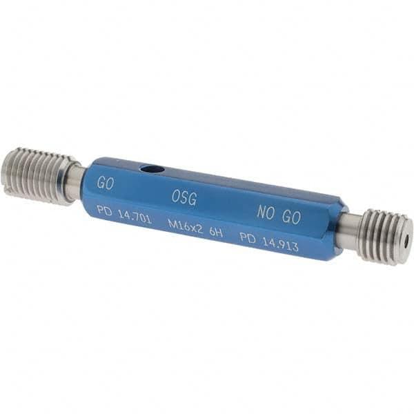 M12x1.25 M12 x 1.25 thread plug gage 6H GO NOGO 100/% calibrated by Fedex