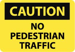 NMC WF1236SW No Pedestrian Traffic National Marker Company