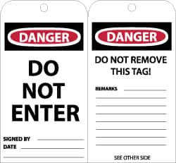NMC DO NOT ENTER English Safety Facility Lockout Tag