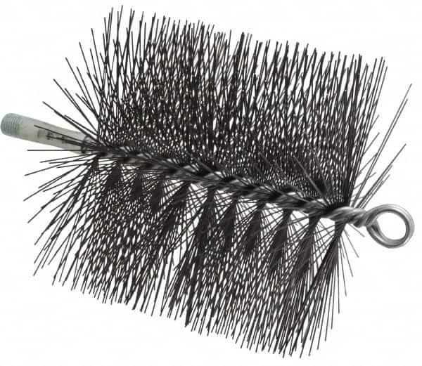 Tempered Steel Wire Chimney Brush 1//4 I... Schaefer Brush 5 Inch Diameter Round