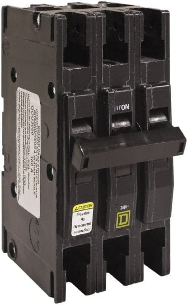 Square D 125 Amp 3 Pole Din Rail Mount Miniature Circuit Breaker 56837131 Msc Industrial Supply
