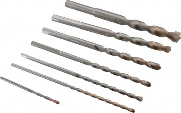 """Carbide Drill Bits Pack of 7 0.1250/"""""""