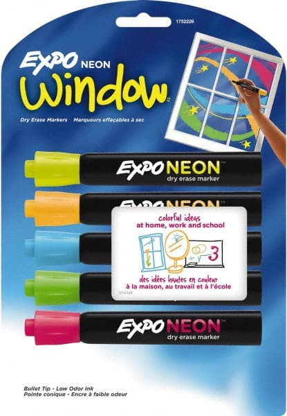 Expo Neon Dry Erase Marker Set Of 5