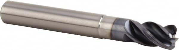 Bassett MSE-4 Series Solid Carbide General Purpose End Mill 4 Flute 1-1//2 Length 3//32 Cutting Diameter 30 Degrees Helix Radius Corner End 0.125 Cutting Length Pack of 1 TiCN Coated