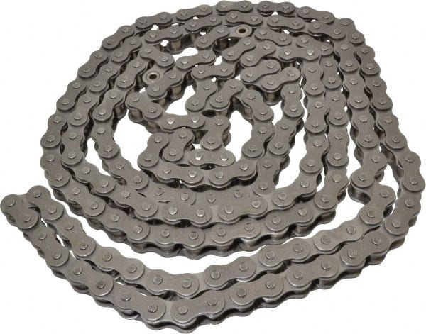 10ft Length 0.625 Roller Diamter 1 Pitch ANSI 80-8 Morse 80-8C 10FT Standard Roller Chain Steel 8 Strands 14500lbs Average Tensile Strength 5//8 Roller Width Cottered