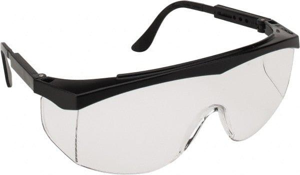 crews clear sr blk frame stratos safety glasses ss110