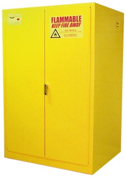 Yellow Hazardous Chemical Storage Cabinets Mscdirect Com