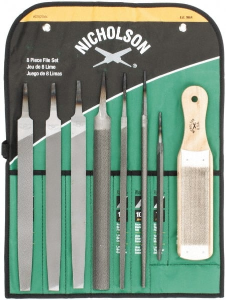 Nicholson File Set 12 Piece Set. Swiss Pattern Needle Type 2 Cut 6 Sets