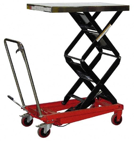 Vestil - 800 Lb Capacity Hydraulic Scissor Elevating Cart