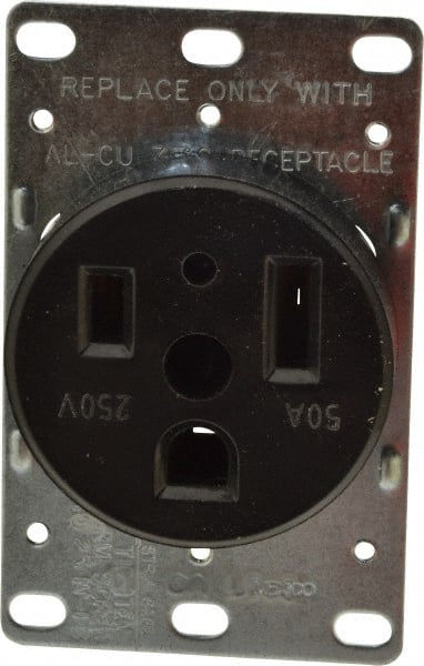 Cooper Wiring Devices - 250 VAC, 50 Amp, 6-50R NEMA Configuration, on welder plug wiring, electric range plug wiring, nema 6 50 240 volt wiring, 220v wire 6 50r wiring,