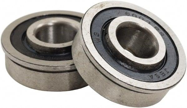 "Lawn Mower Wheel Precision Sealed Flanged Ball Bearing 1-3//8/"" OD x 3//4/"" ID"