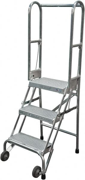 Outstanding Cotterman 60 3 Step Rolling Warehouse Ladder 61248704 Spiritservingveterans Wood Chair Design Ideas Spiritservingveteransorg