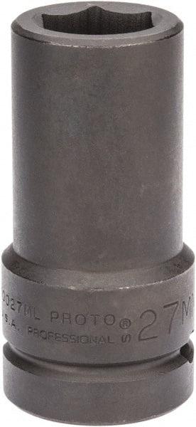 "Proto 1//2/"" Drive Deep Impact Socket 27mm J7327M, 6 Point 3-1//2/"" Long"
