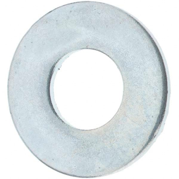 Steel Flat Washer Pack of 100 1.6 mm Thick M6 Screw Size Metric Zinc Plated Finish 12 mm OD DIN 125 6.4 mm ID