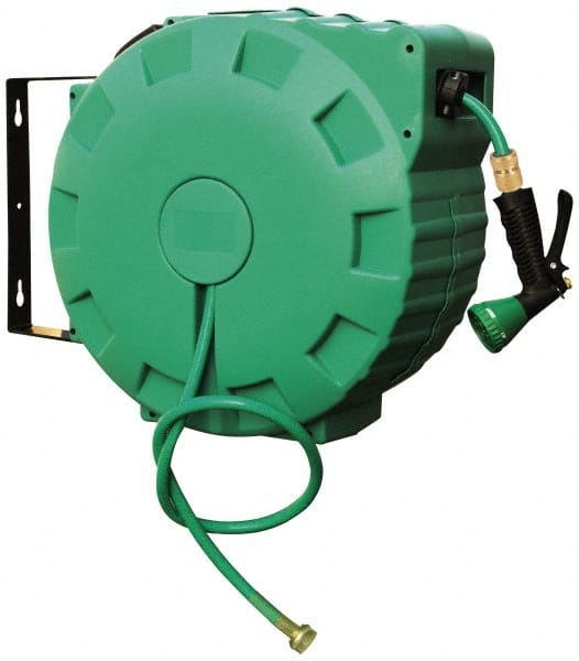 Import 1/2inches X65u0027 W/ Water Wand Retractable Hose In Reel 0454184/